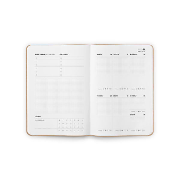 Kalender-2021-smartes-notizbuch-theres-a-book-for-that-bullet-journal-Spread